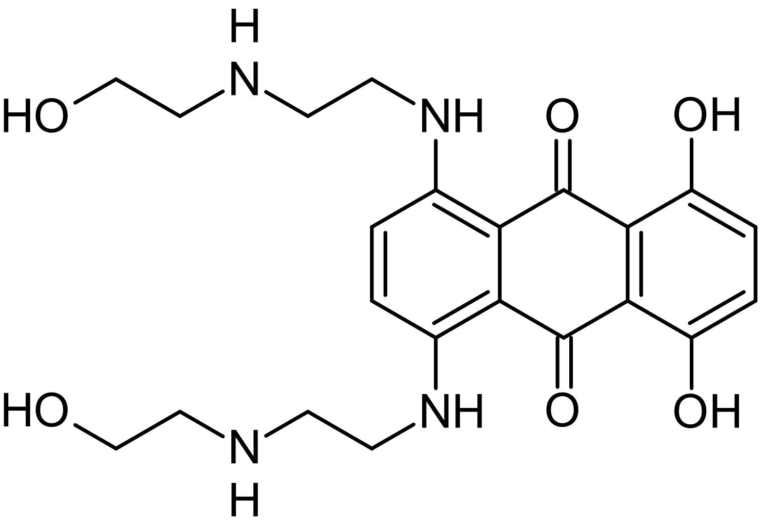 Chemical Structure - Mitoxantrone dihydrochloride, Type II topoisomerase inhibitor (ab141041)