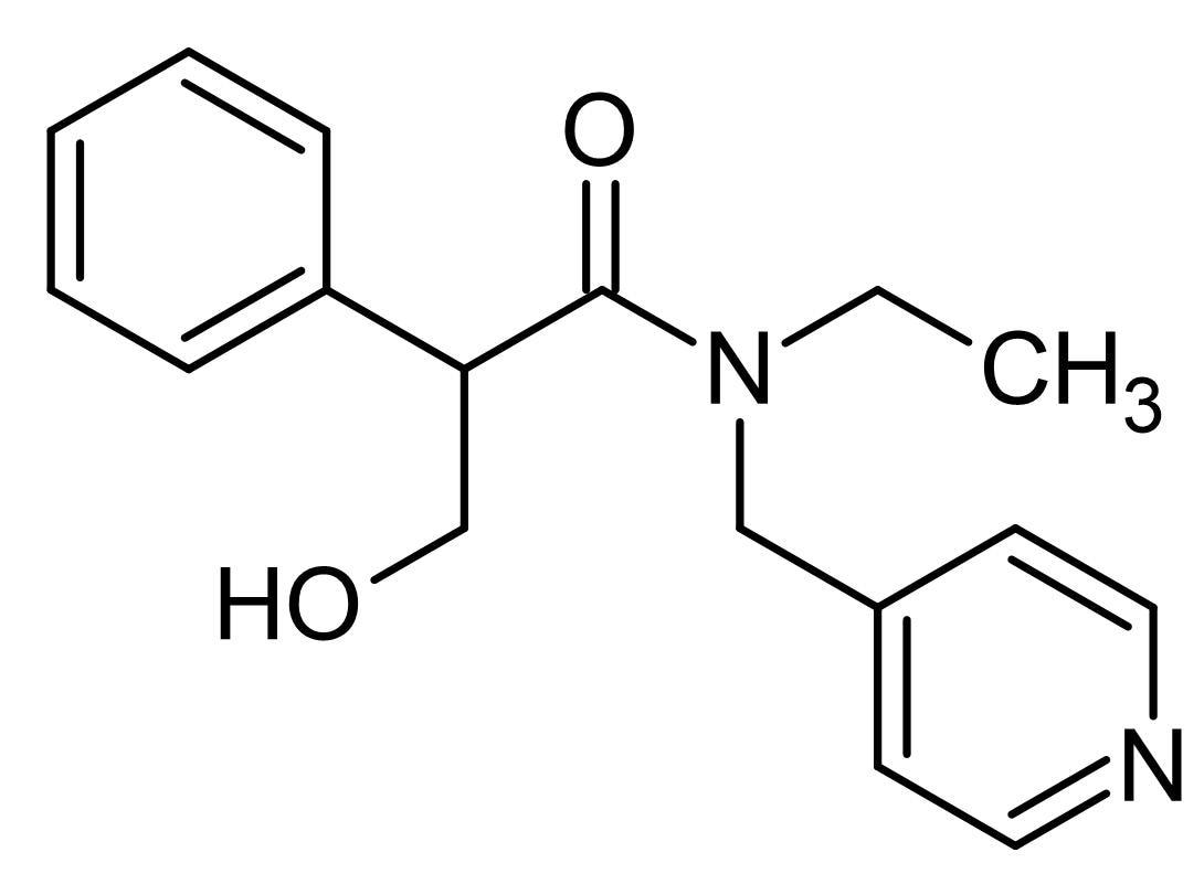 Chemical Structure - Tropicamide, M<sub>4</sub> antagonist (ab141043)