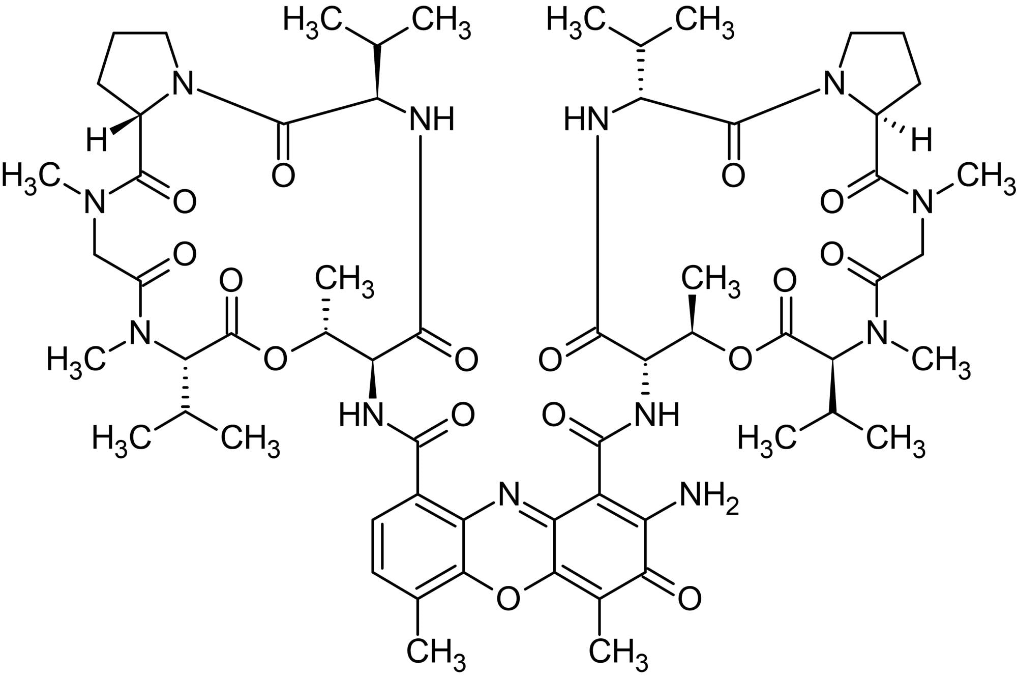 Chemical Structure - Actinomycin D (Dactinomycin), Nucleic acid and protein synthesis inhibitor (ab141058)