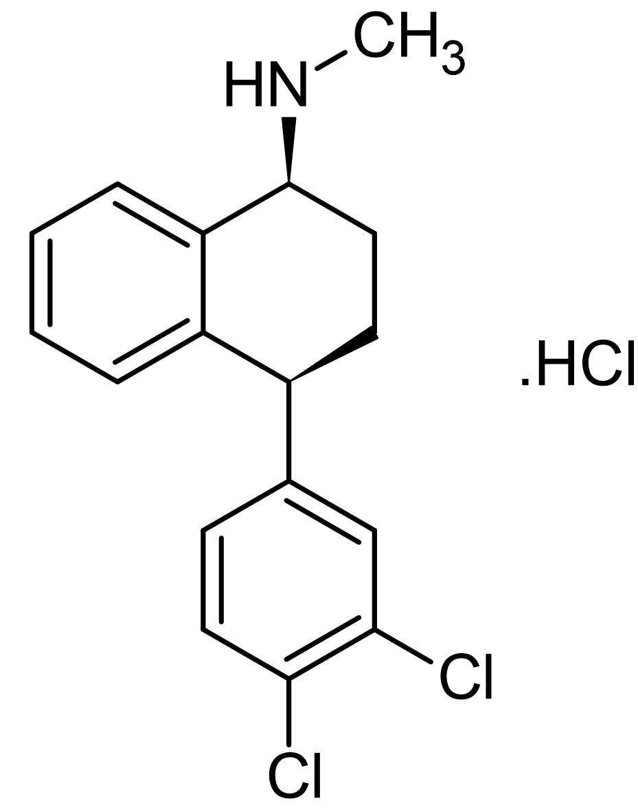 Chemical Structure - Sertraline hydrochloride, Serotonin reuptake inhibitor (ab141068)