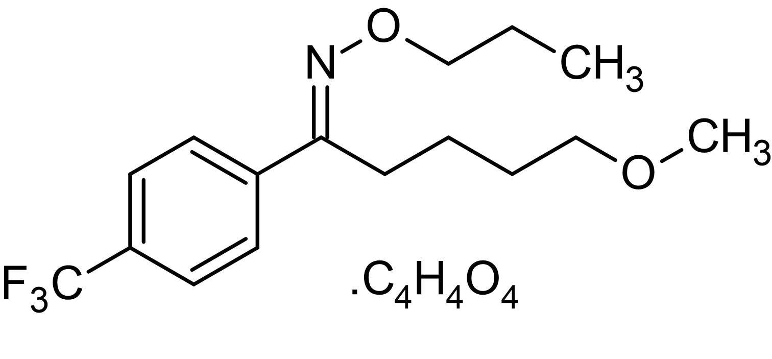 Chemical Structure - Fluvoxamine maleate, Serotonin reuptake inhibitor (SSRI) (ab141082)