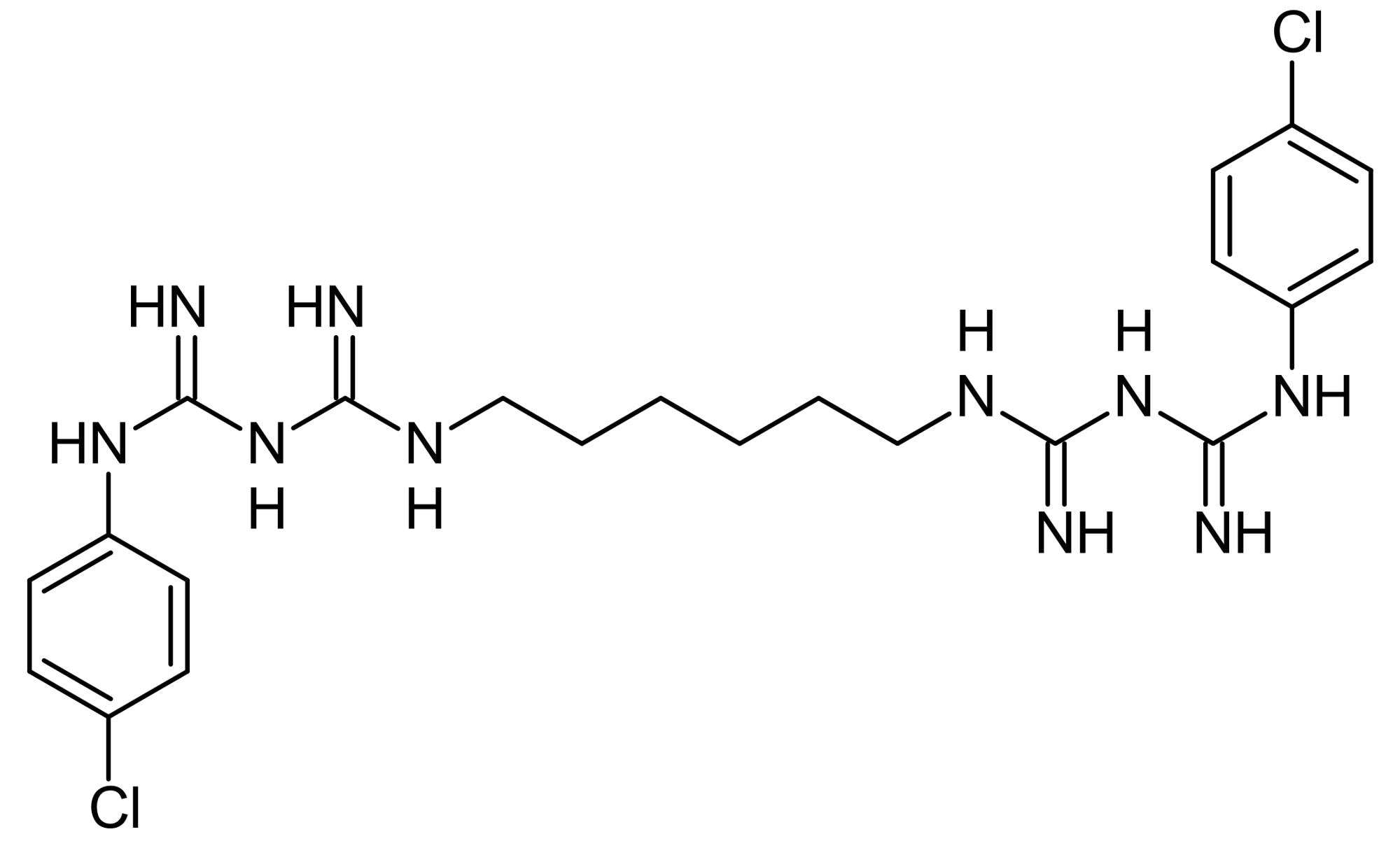 Chemical Structure - Chlorhexidine, anti-microbial agent (ab141090)