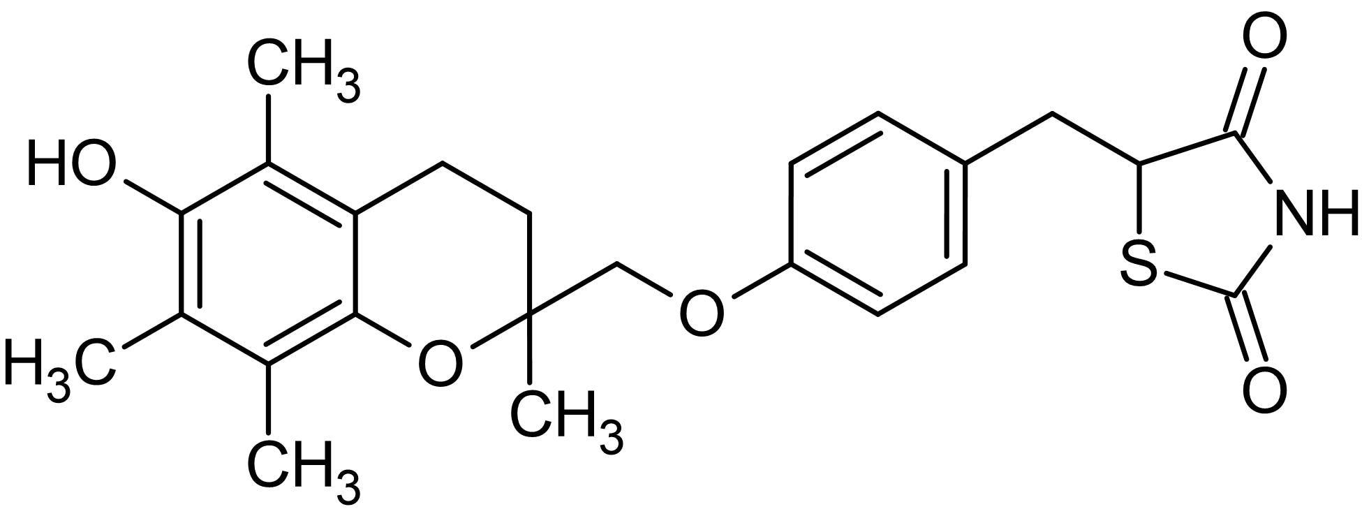 Chemical Structure - Troglitazone, PPAR-gamma receptor agonist (ab141112)