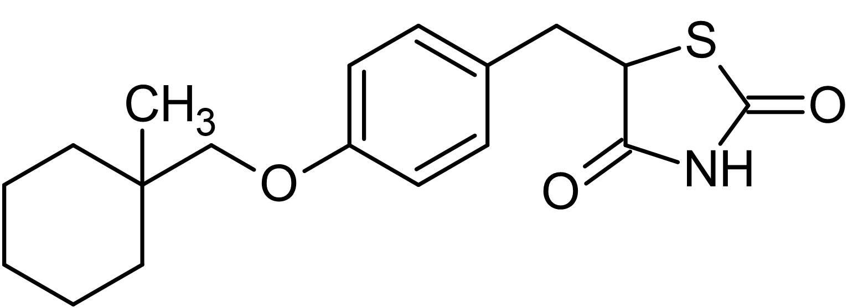 Chemical Structure - Ciglitazone, PPARgamma agonist (ab141139)