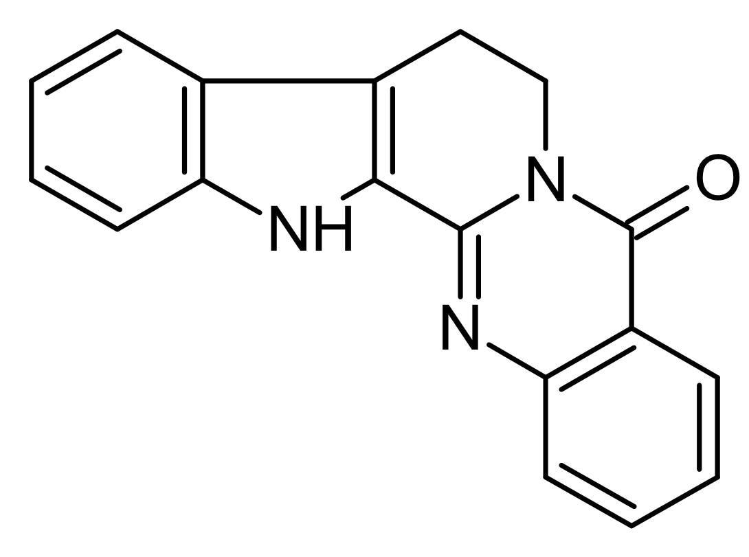 Chemical Structure - Rutaecarpine, Indoloquinazoline alkaloid (ab141145)