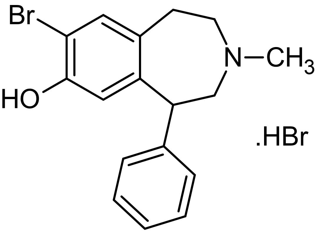 Chemical Structure - SKF 83566 hydrobromide, D<sub>1</sub> receptor antagonist (ab141146)