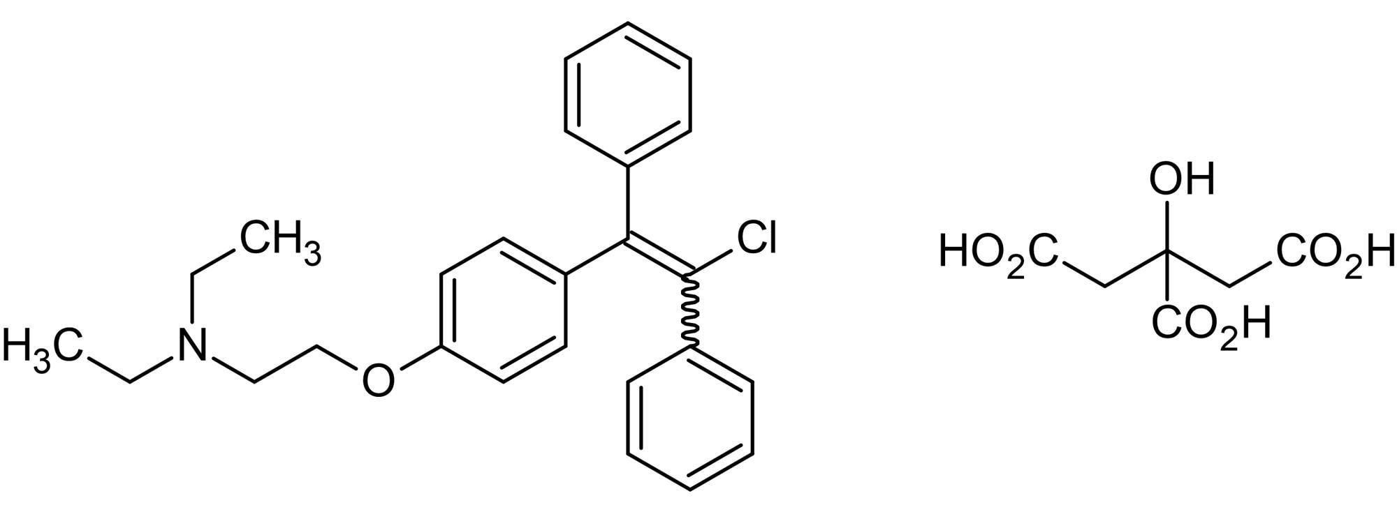 Chemical Structure - Clomiphene citrate, Estrogen receptor modulator (SERM) (ab141183)