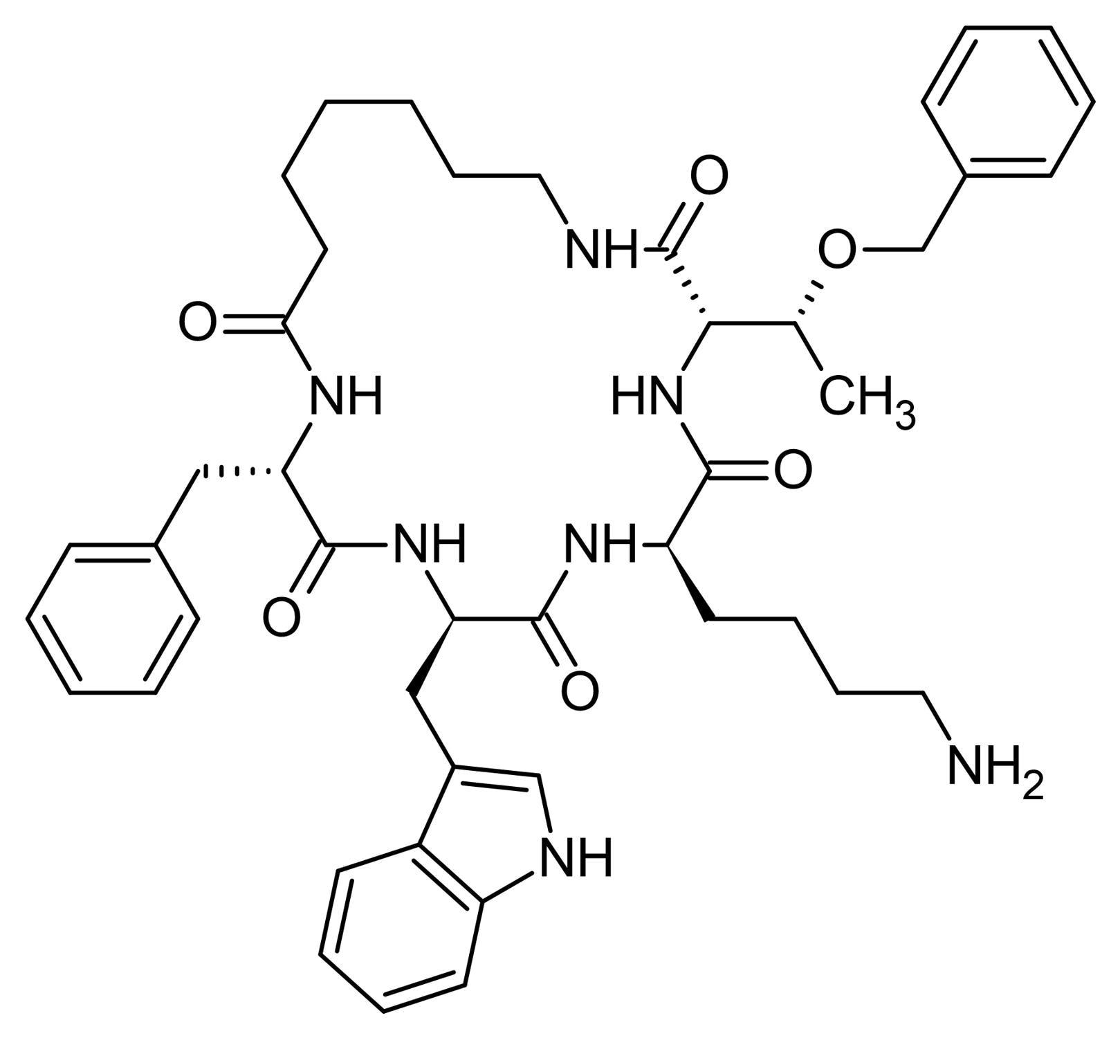 Chemical Structure - Cyclosomatostatin, Somatostatin antagonist. (ab141211)