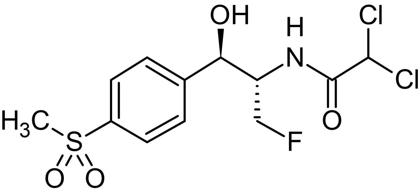 Chemical Structure - Florfenicol, Antibacterial agent (ab141214)