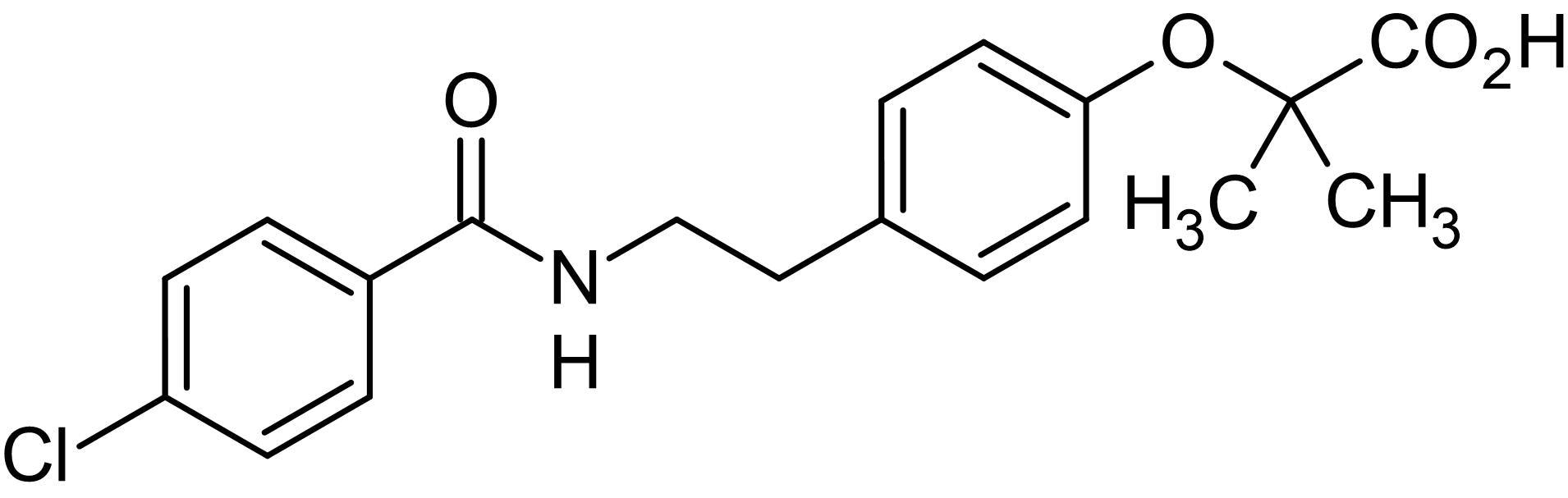 Chemical Structure - Bezafibrate, Pan-PPAR agonist (ab141233)