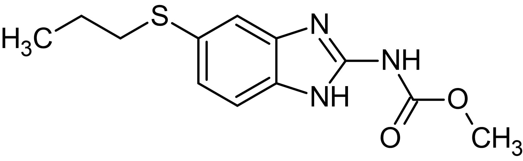 Chemical Structure - Albendazole, Microtubule depolymerizing agent (ab141241)