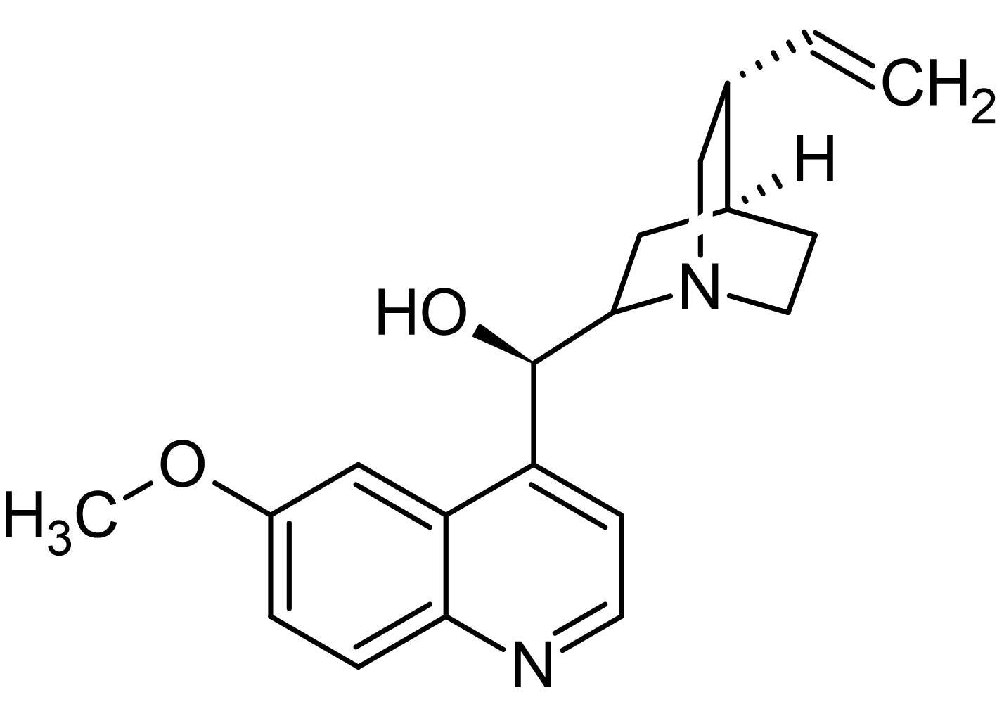 Chemical Structure - Quinine, Potassium channel blocker (ab141247)