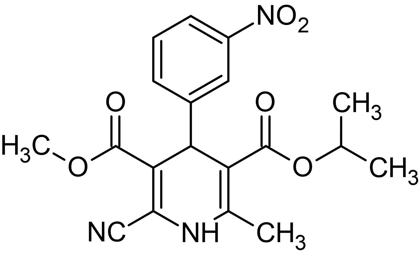Chemical Structure - Nilvadipine, L-type calcium channel blocker (ab141311)