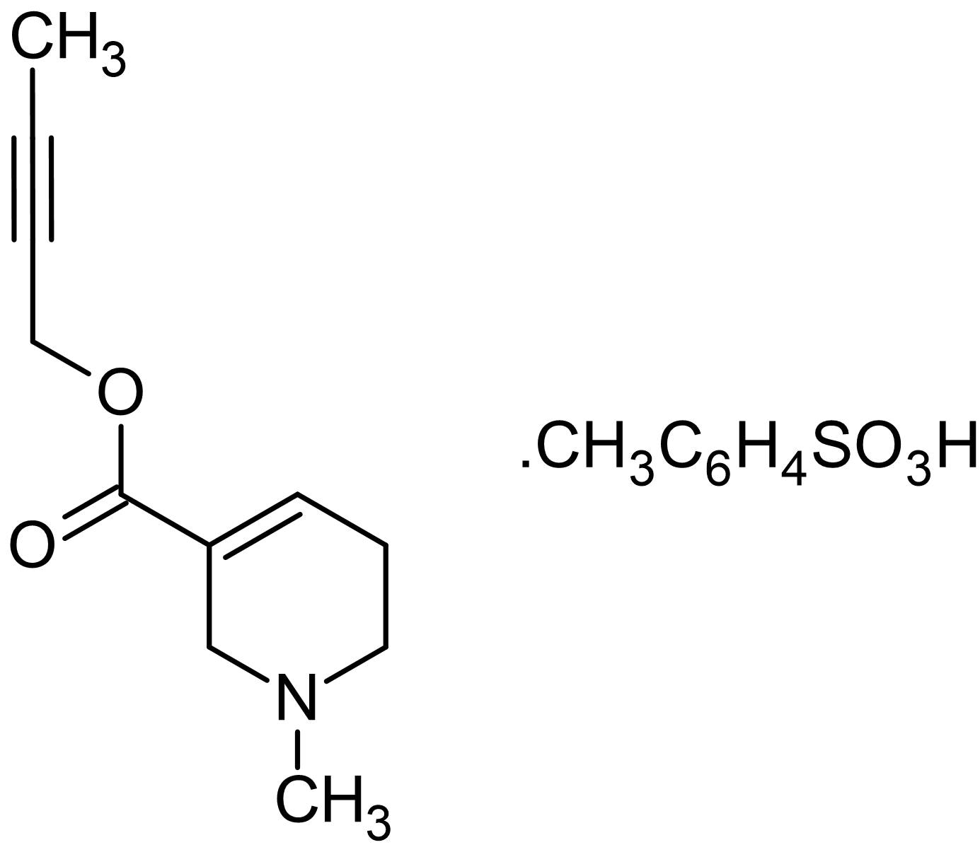 Chemical Structure - Arecaidine but-2-ynyl ester tosylate, mAChR M<sub>2</sub> agonist (ab141318)