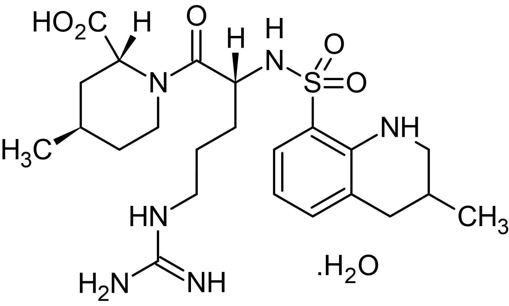 Chemical Structure - Argatroban monohydrate, Thrombin inhibitor (ab141332)