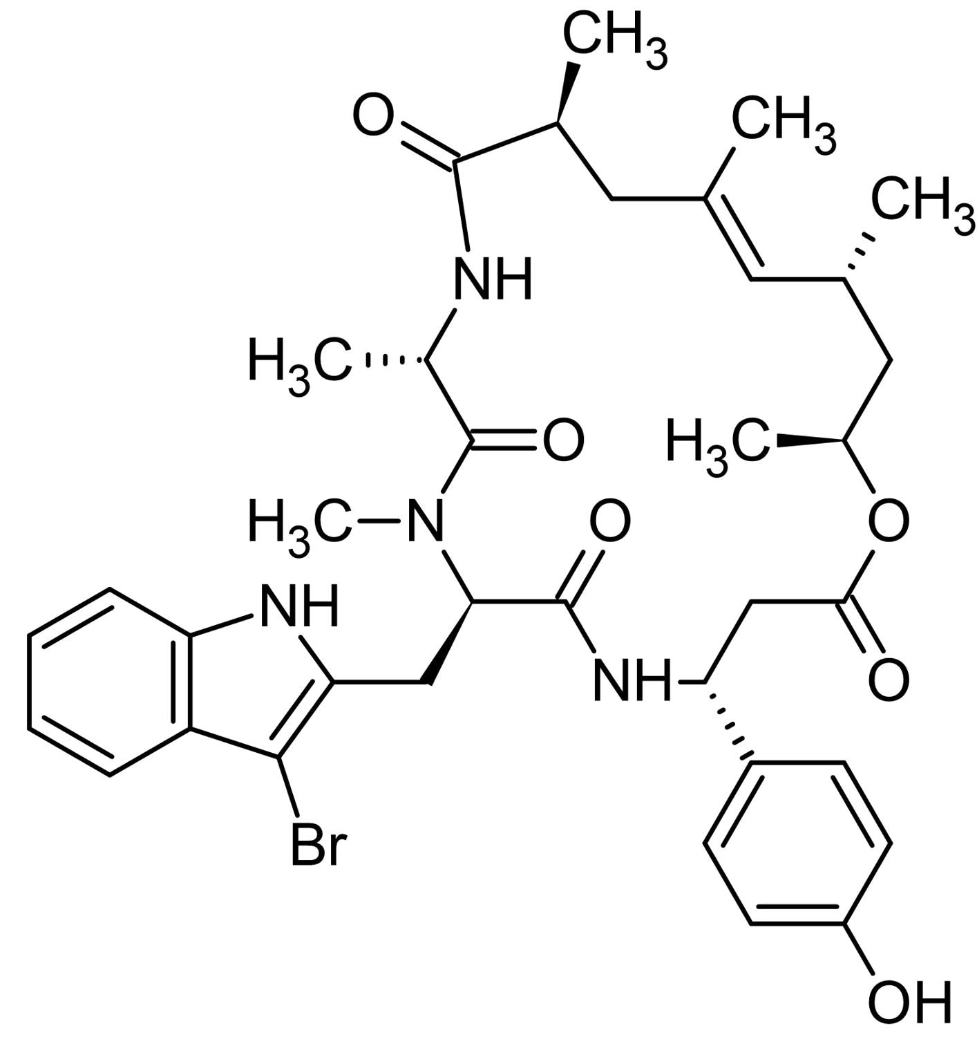 Chemical Structure - Jasplakinolide, Actin polymerization and stabilization inducer (ab141409)