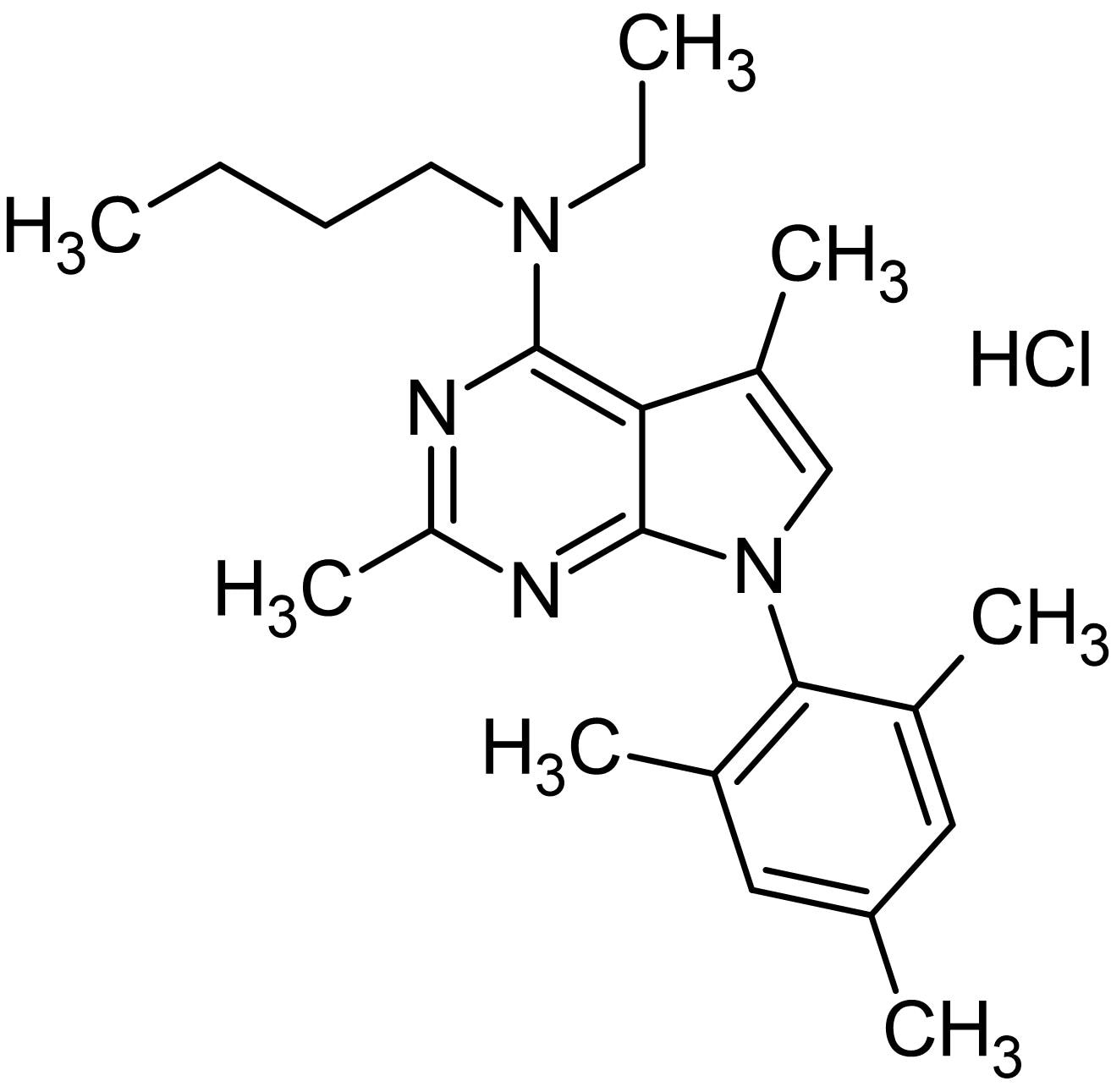 Chemical Structure - CP 154526 hydrochloride, non-peptide CRF1 receptor antagonist (ab141429)