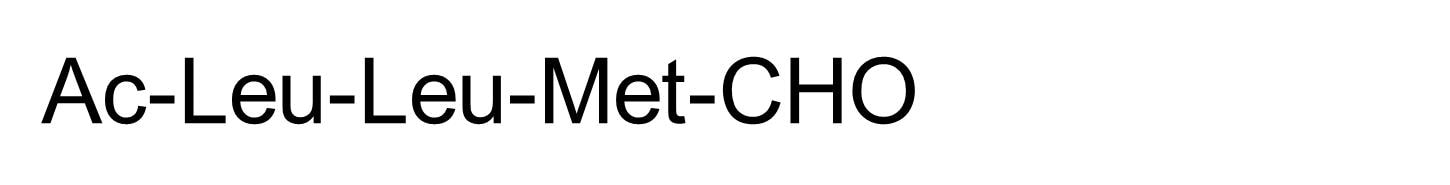 Chemical Structure - ALLM, calpain inhibitor (ab141446)