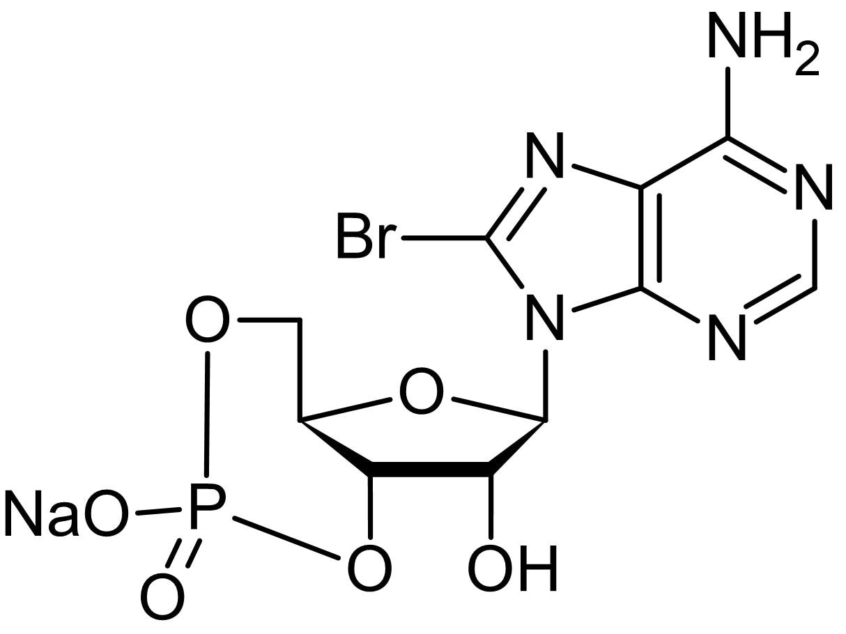 Chemical Structure - 8-Br-cAMP (8-Bromo-cAMP), PKA activator (ab141448)