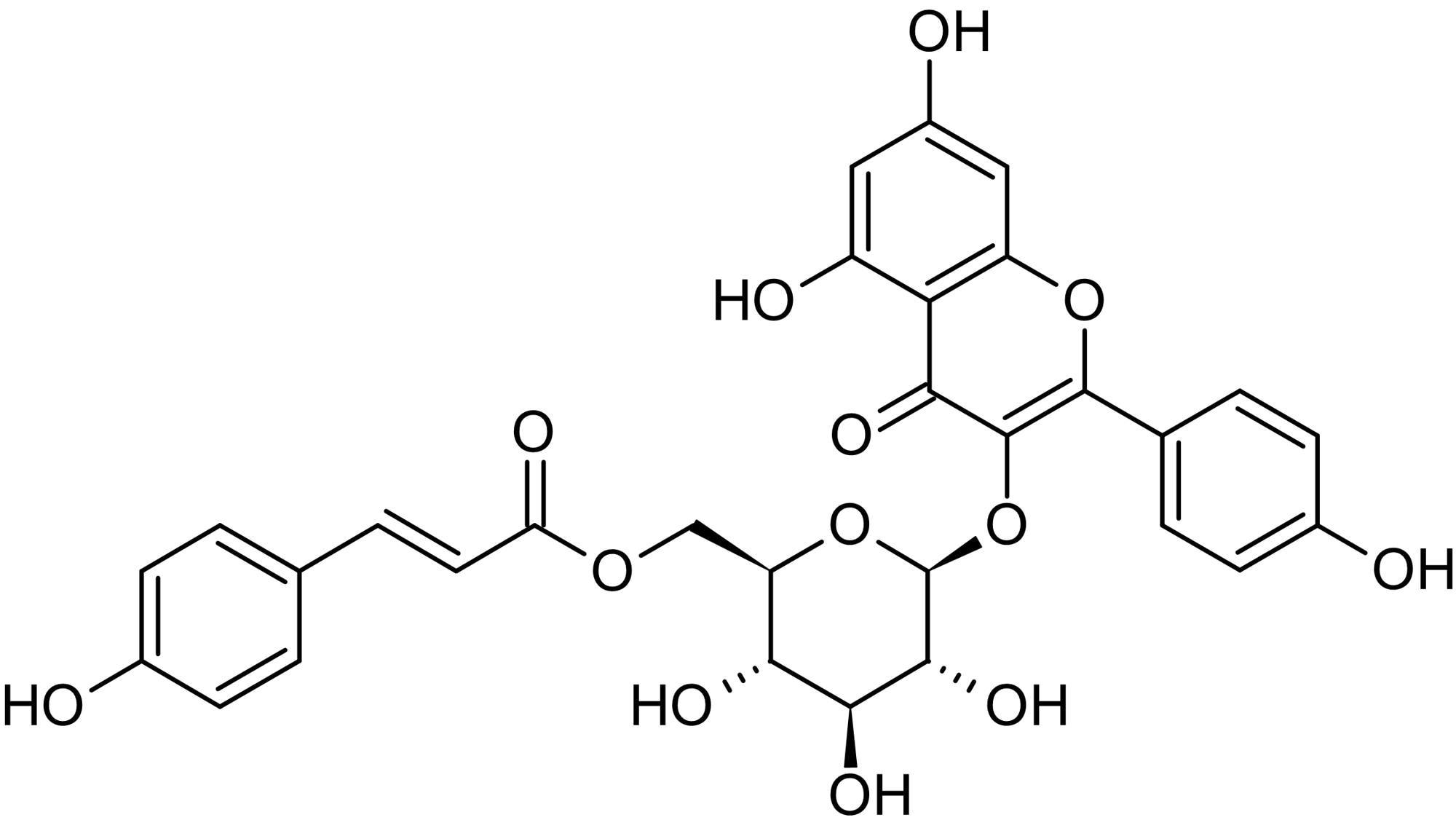 Chemical Structure - Tiliroside, CYP inhibitor (ab141455)