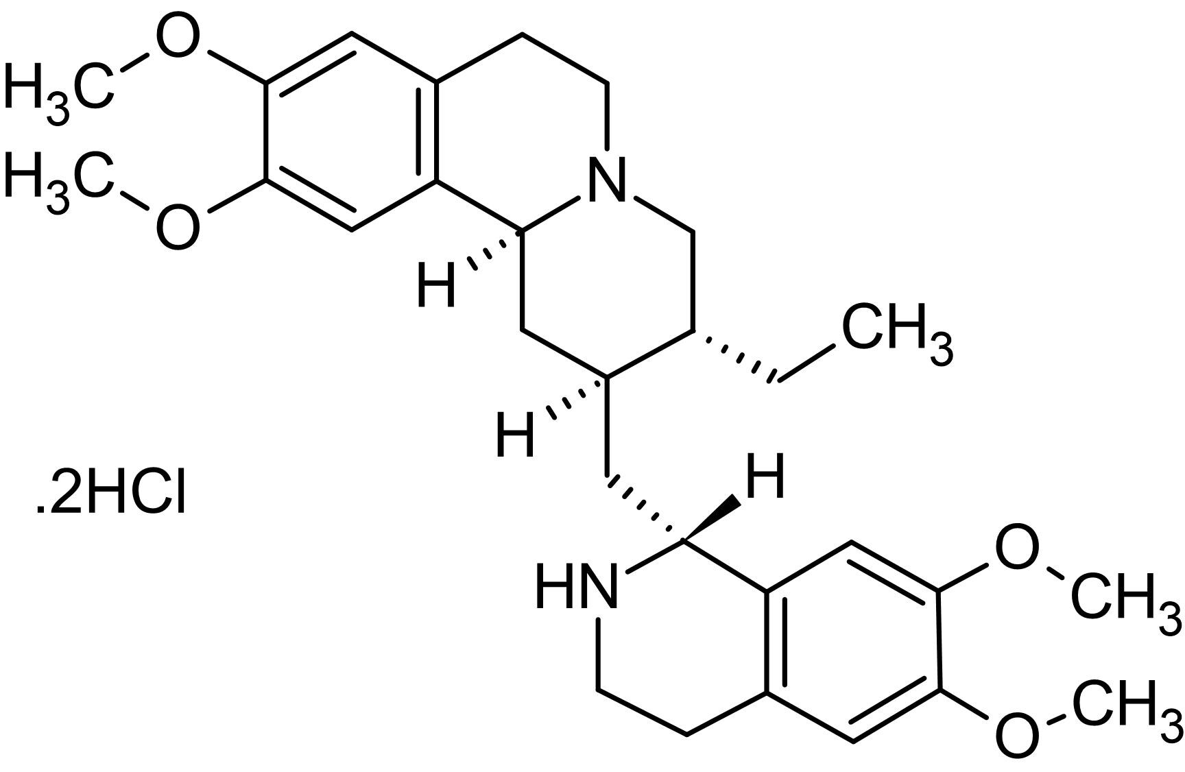 Chemical Structure - Emetine dihydrochloride, Protein synthesis inhibitor (ab141478)