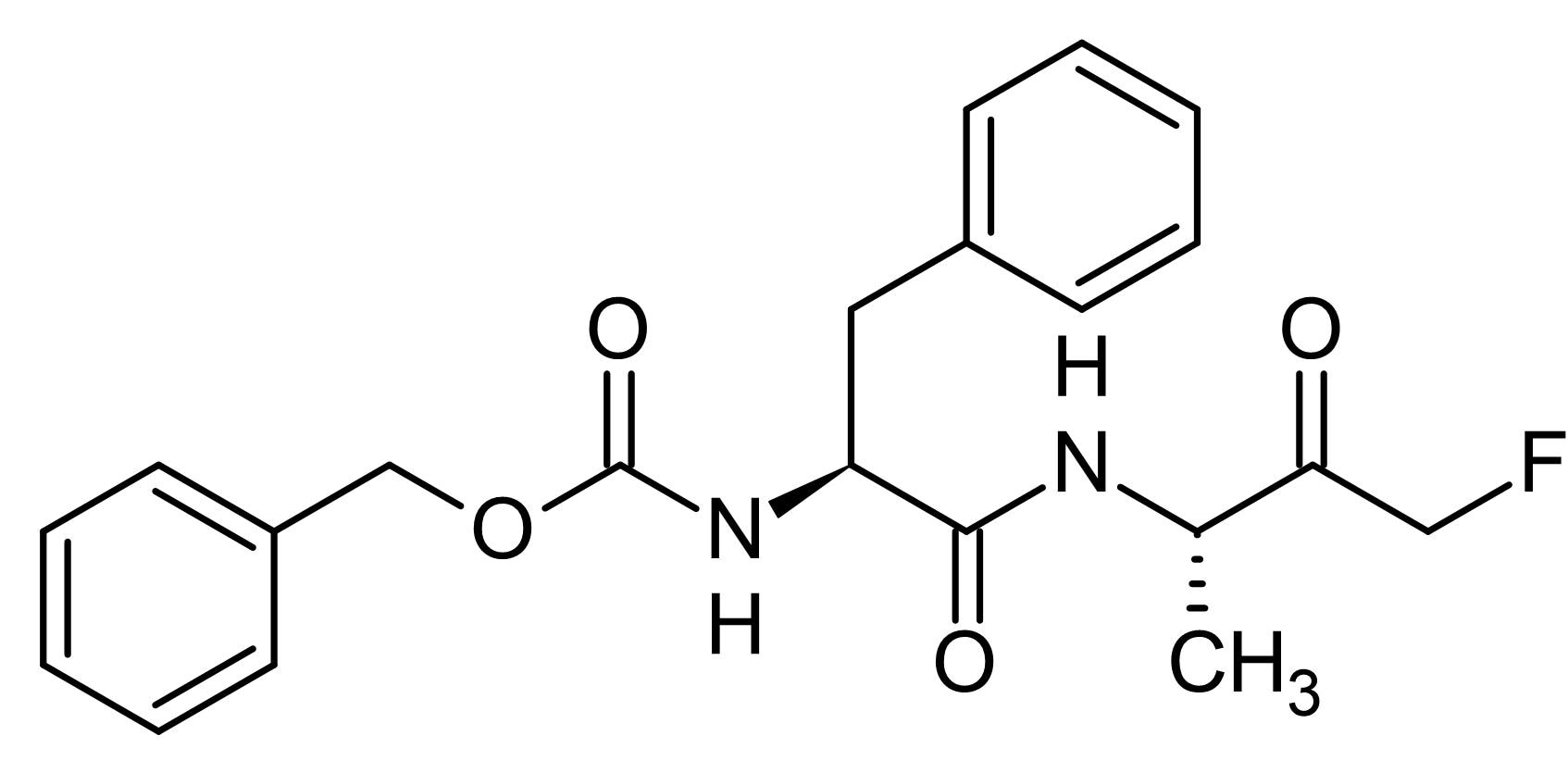 Chemical Structure - Z-FA-FMK, Cysteine protease inhibitor (ab141484)