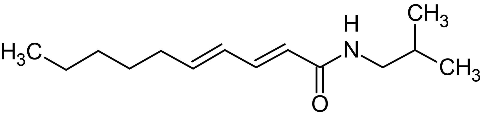Chemical Structure - Pellitorine, Acyl-CoA cholesteryl acyl transferase and alpha (ab141495)