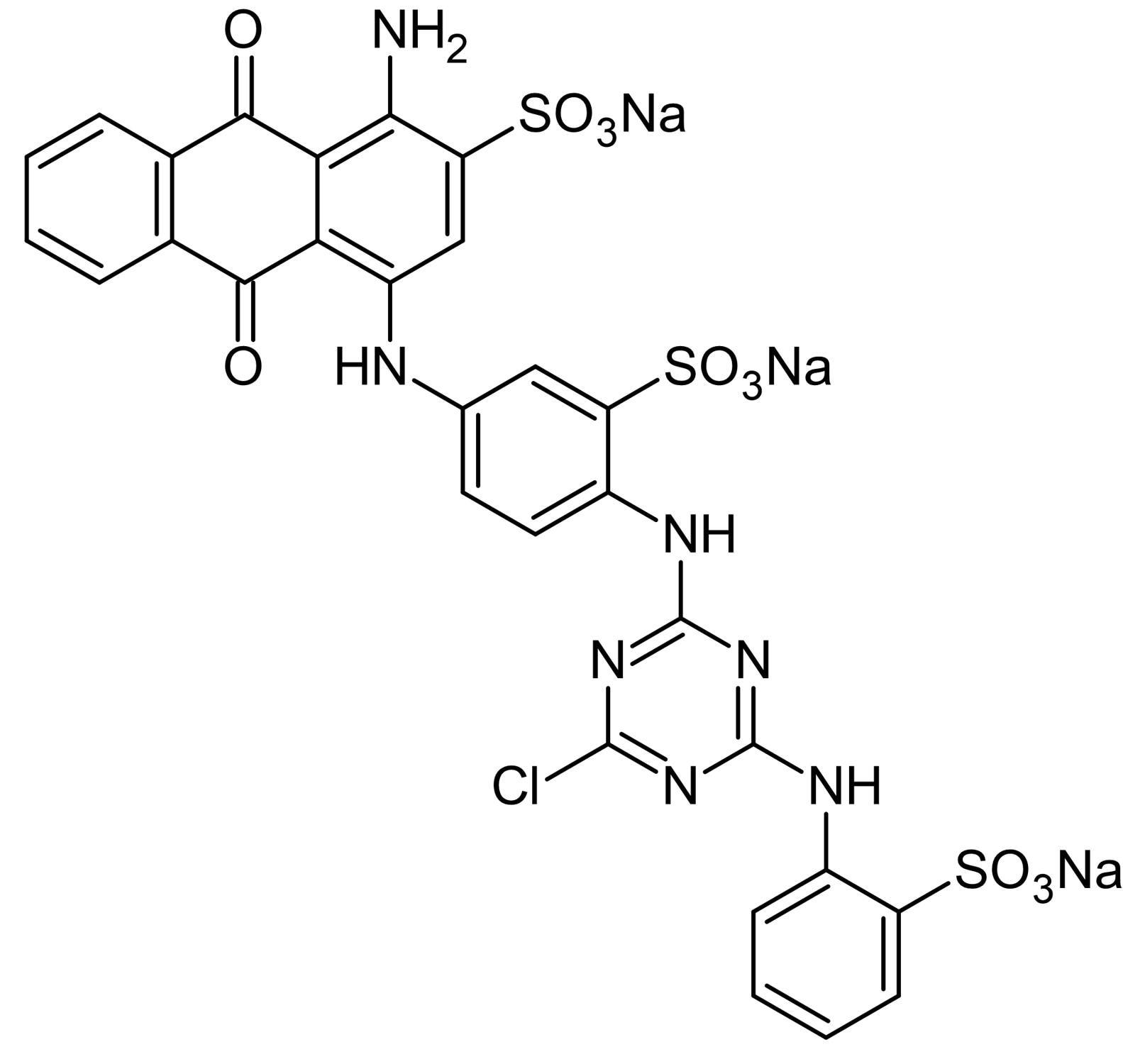 Chemical Structure - Cibacron Blue 3G-A, Anthraquinone derivative dye (ab141504)