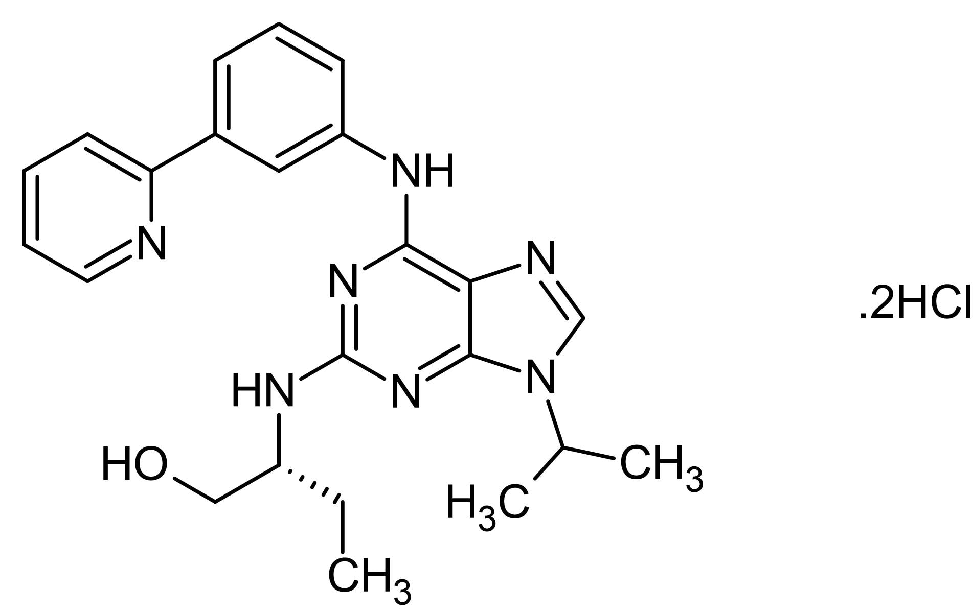 Chemical Structure - (R)-DRF053 dihydrochloride, CDK and CK1 inhibitor (ab141505)