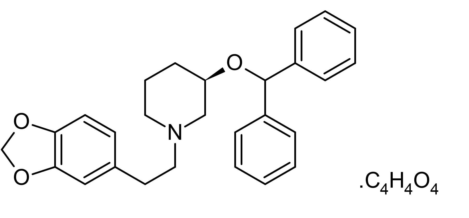 Chemical Structure - Zamifenacin fumarate, M<sub>3</sub> receptor antagonist (ab141511)