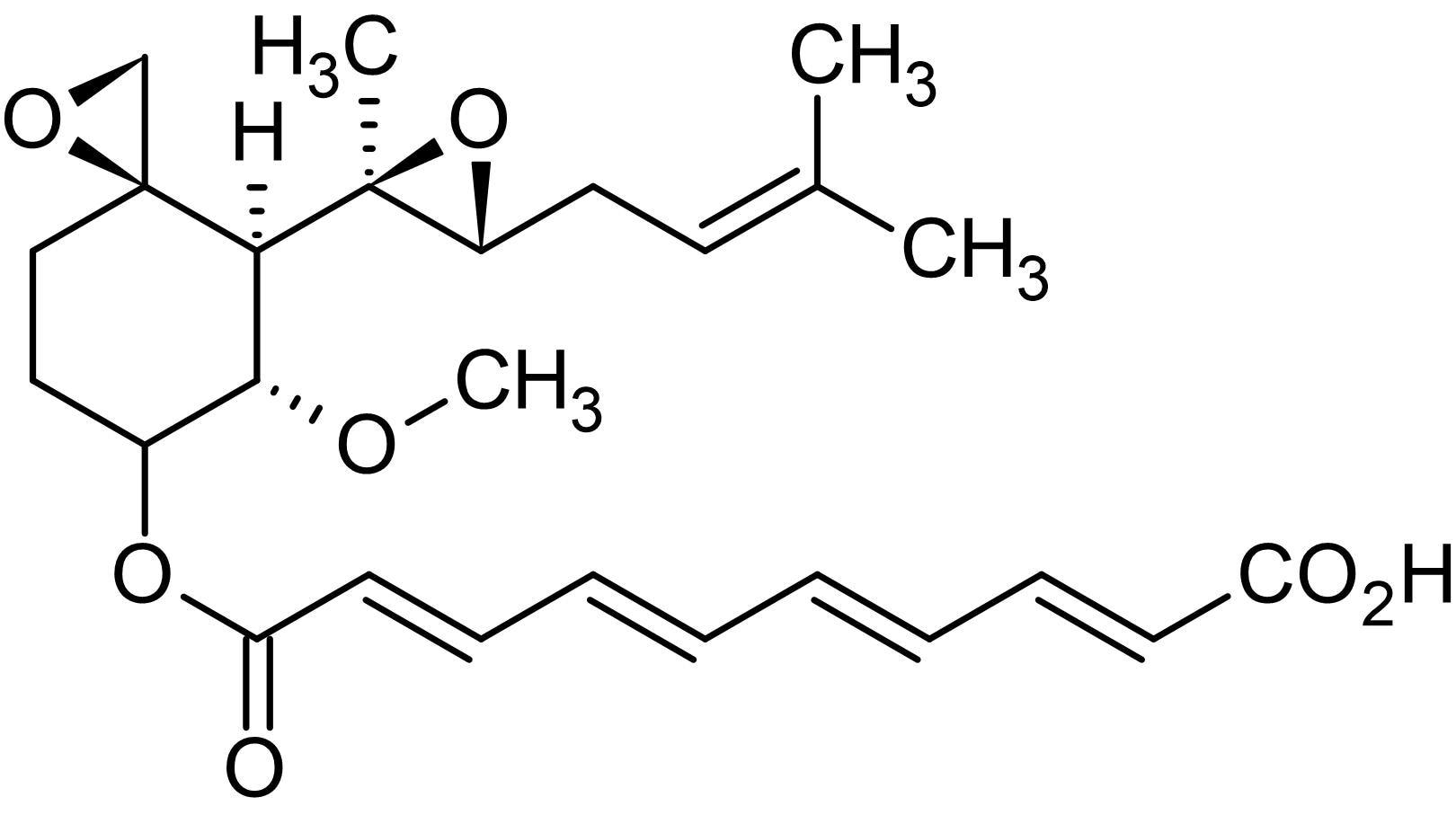 Chemical Structure - Fumagillin, methionine aminopeptidase-2 (MetAP<sub>2</sub>) inhibitor (ab141527)