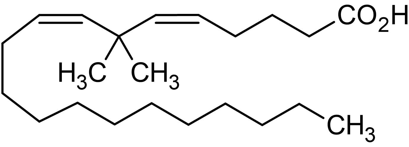Chemical Structure - 7,7-Dimethyleicosadienoic acid, PLA<sub>2</sub> inhibitor (ab141544)