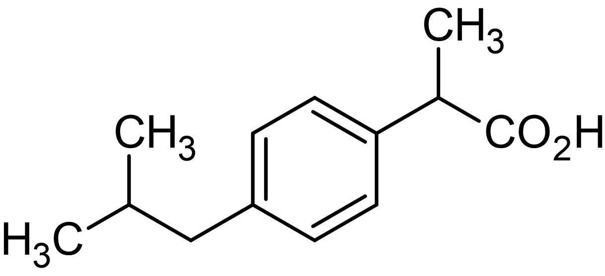 Chemical Structure - Ibuprofen, NSAID (ab141553)
