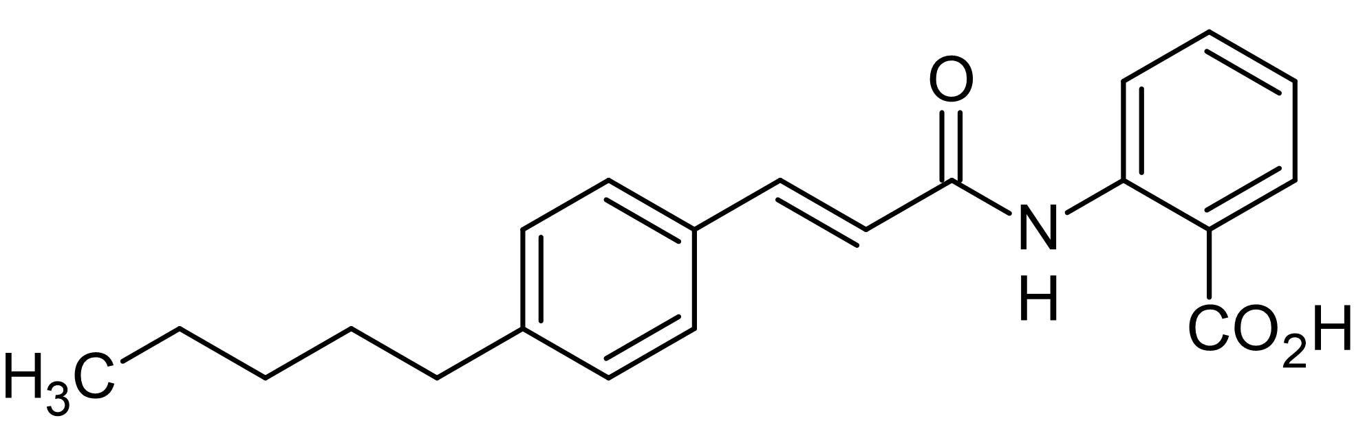 Chemical Structure - N-(p-Amylcinnamoyl)anthranilic acid, PLA<sub>2</sub> inhibitor (ab141555)