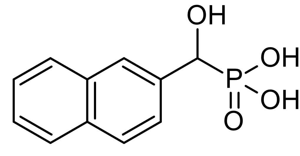 Chemical Structure - Hydroxy-2-naphthalenylmethylphosphonic acid (HNMPA), Insulin receptor tyrosine kinase inhibitor (ab141566)