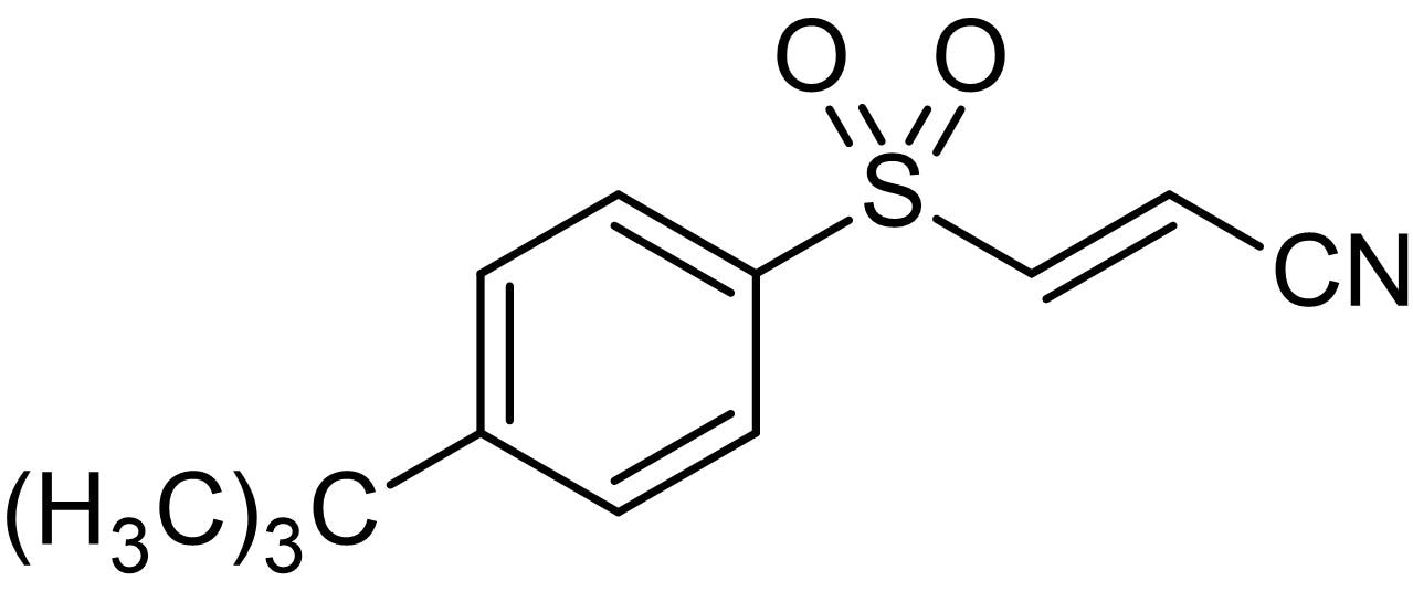 Chemical Structure - BAY 11-7085, Irreversible inhibitor of TNF alpha-induced IxBalpha phosphorylation (ab141574)