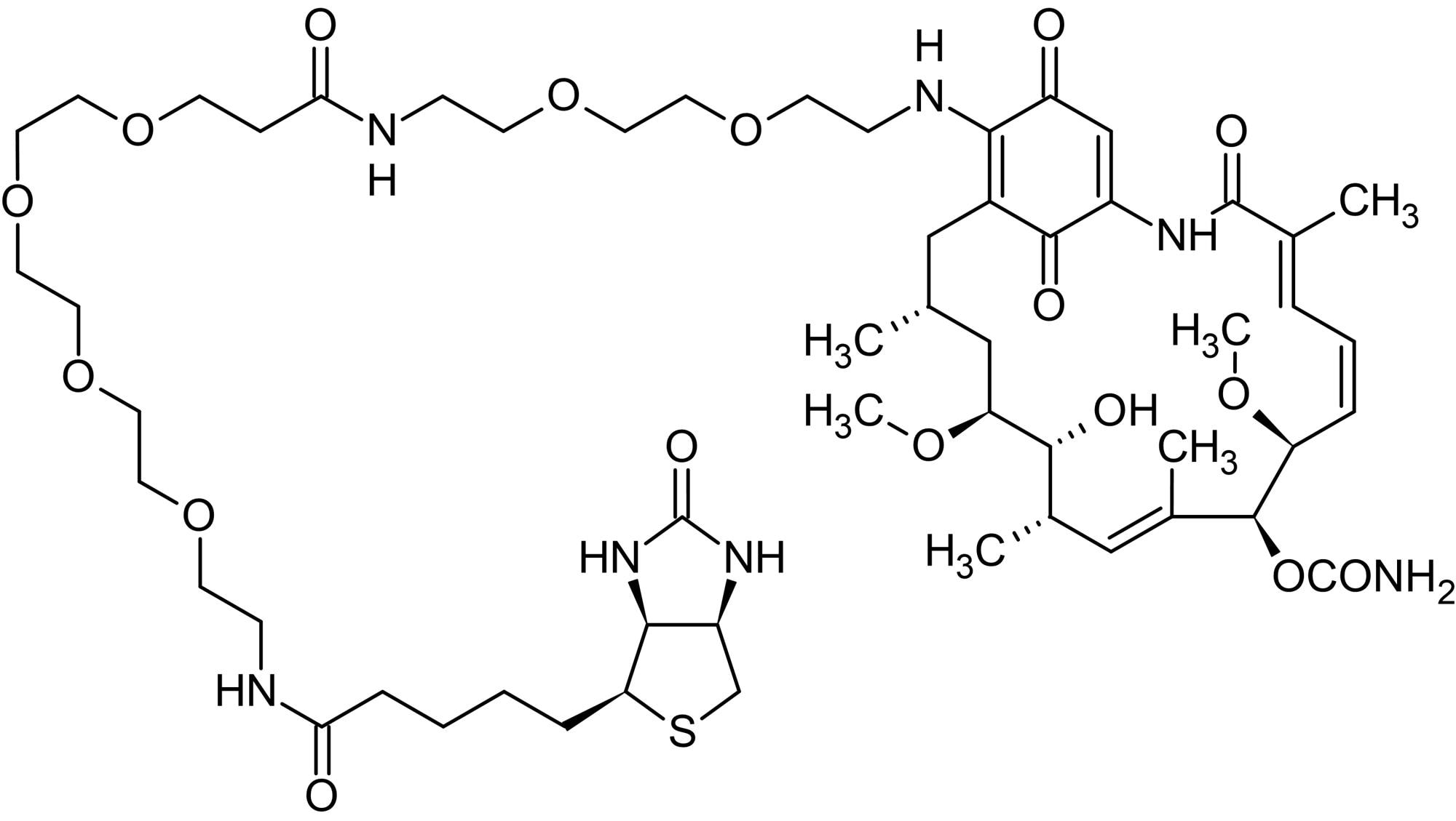 Chemical Structure - Geldanamycin-biotin, HSP90 inhibitor (ab141583)