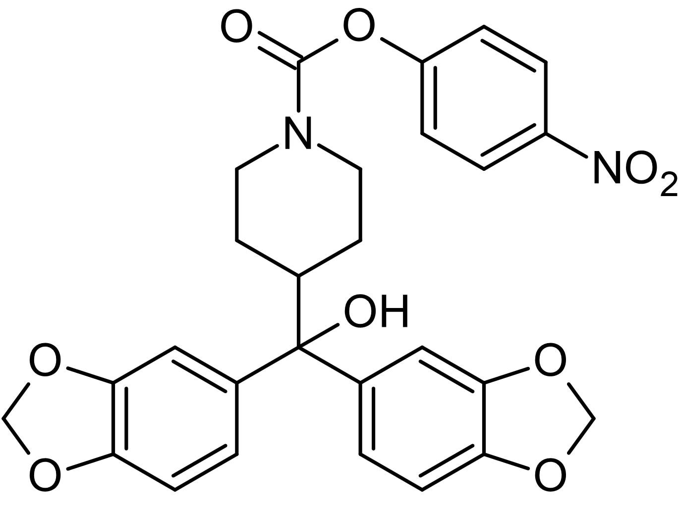 Chemical Structure - JZL-184, monoacylglycerol lipase (MAGL) inhibitor (ab141592)