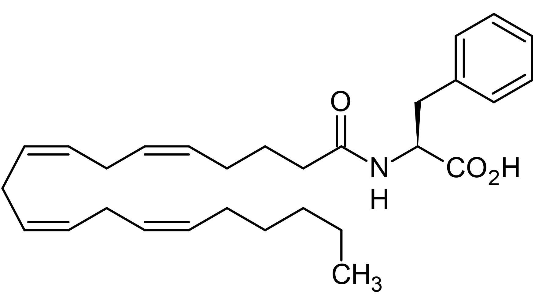 Chemical Structure - N-Arachidonoyl-L-phenylalanine, Arachidonoyl amino acid (ab141612)