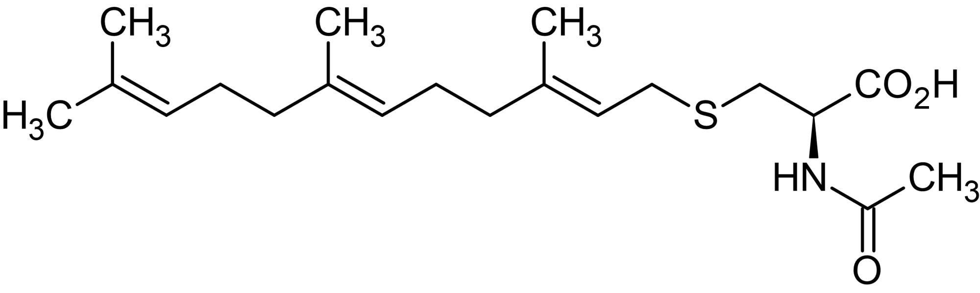 Chemical Structure - N-Acetyl-S-farnesyl-L-cysteine (AFC), Specific S-farnesylcysteine methyl transferase inhibitor (ab141616)