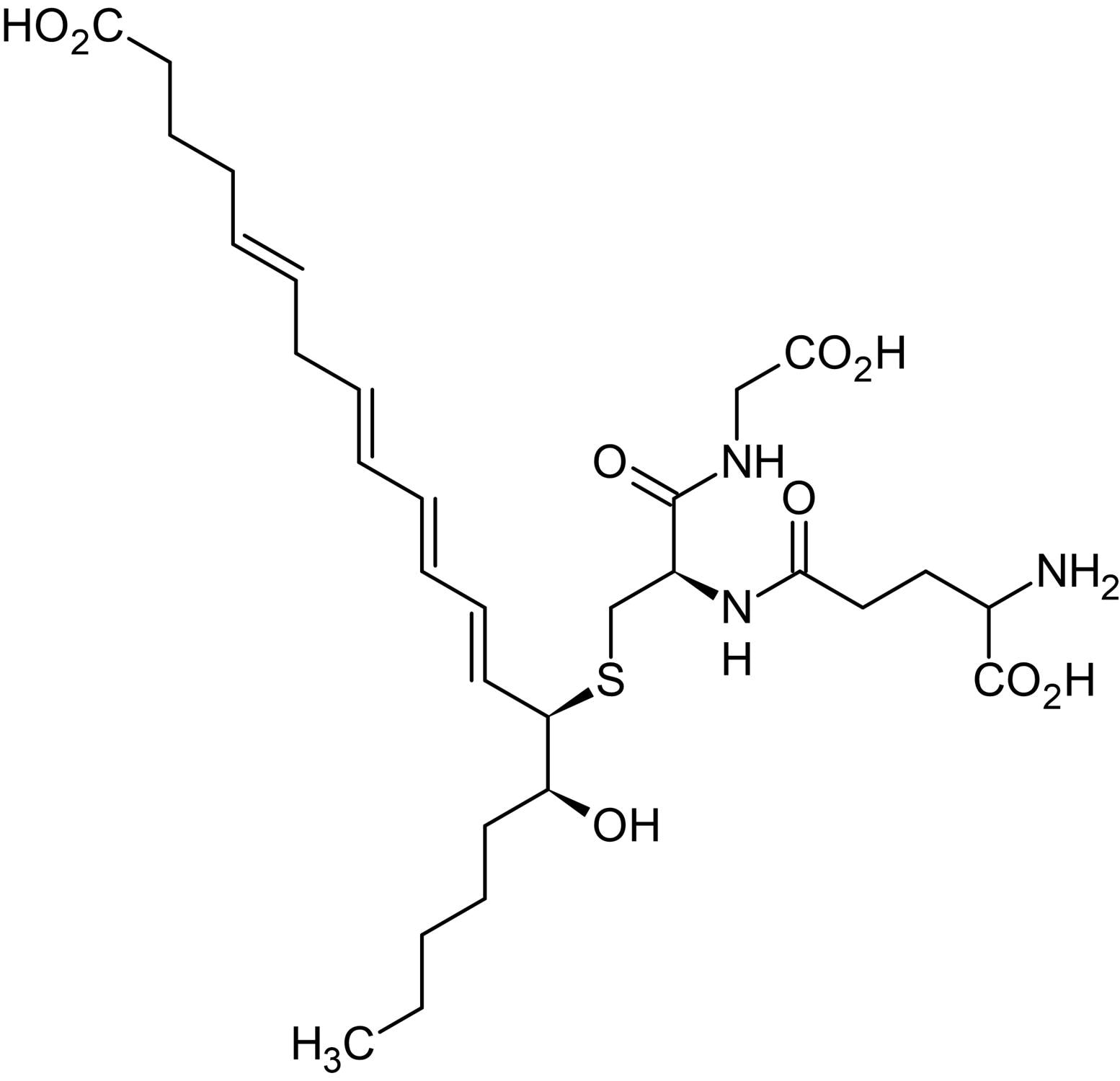 Chemical Structure - 14,15-Leukotriene C4 (eoxin C4), proinflammatory mediator (ab141697)