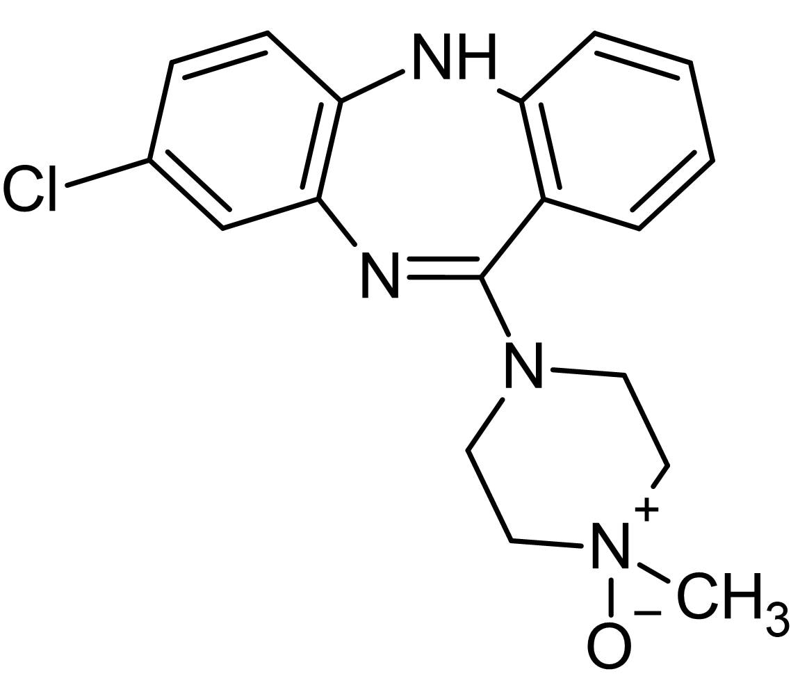 Chemical Structure - Clozapine N-oxide, Metabolite of Clozapine (ab141704)