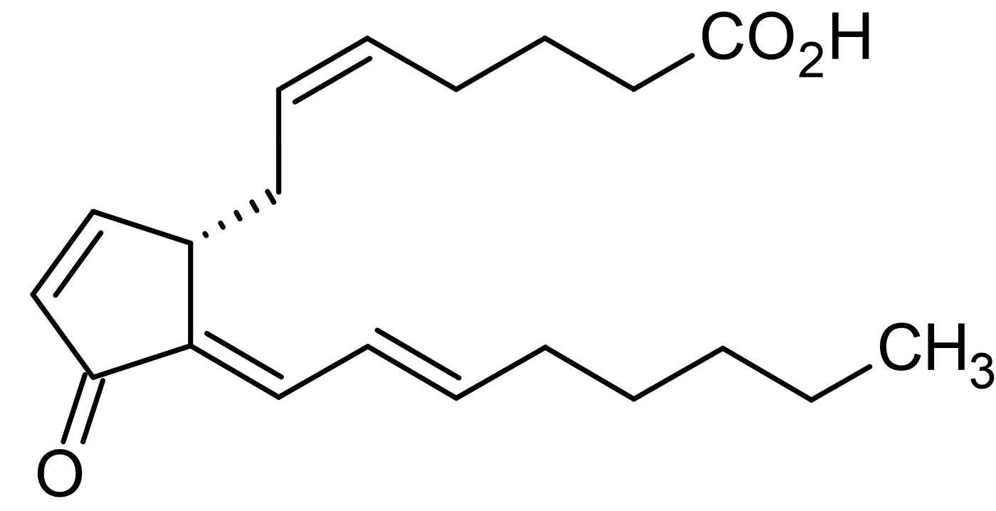 Chemical Structure - 15-Deoxy-Delta12,14-prostaglandin J2, Selective PPARgamma agonist (ab141717)