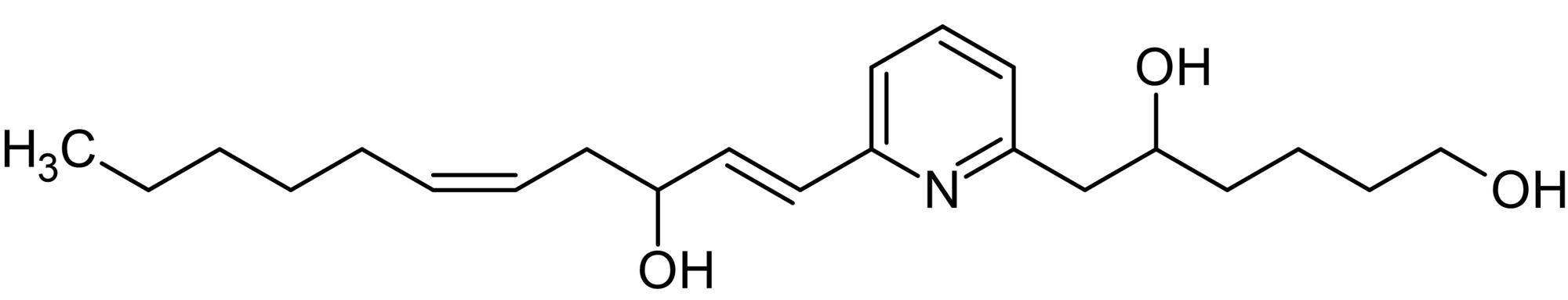 Chemical Structure - U-75302, Leukotriene B<sub>4</sub> BLT<sub>1</sub> receptor antagonist (ab141736)