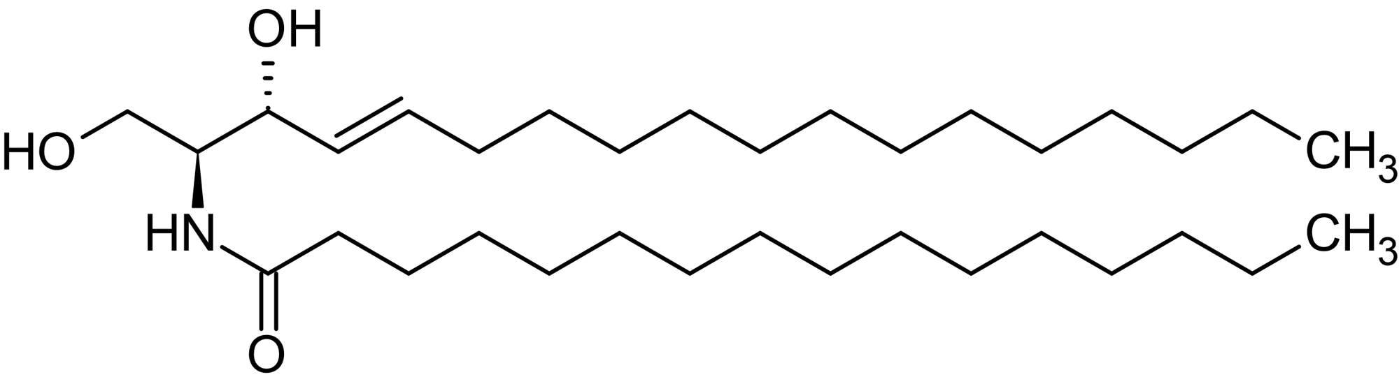 Chemical Structure - C16 Ceramide (Palmitoyl ceramide), Endogenous ceramide (ab141747)