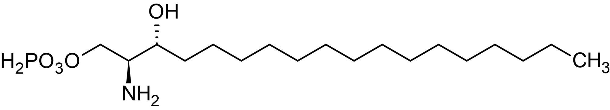 Chemical Structure - D-<em>erythro</em>-Dihydrosphingosine-1-phosphate, sphingosine 1-phosphate receptor ligand (ab141750)