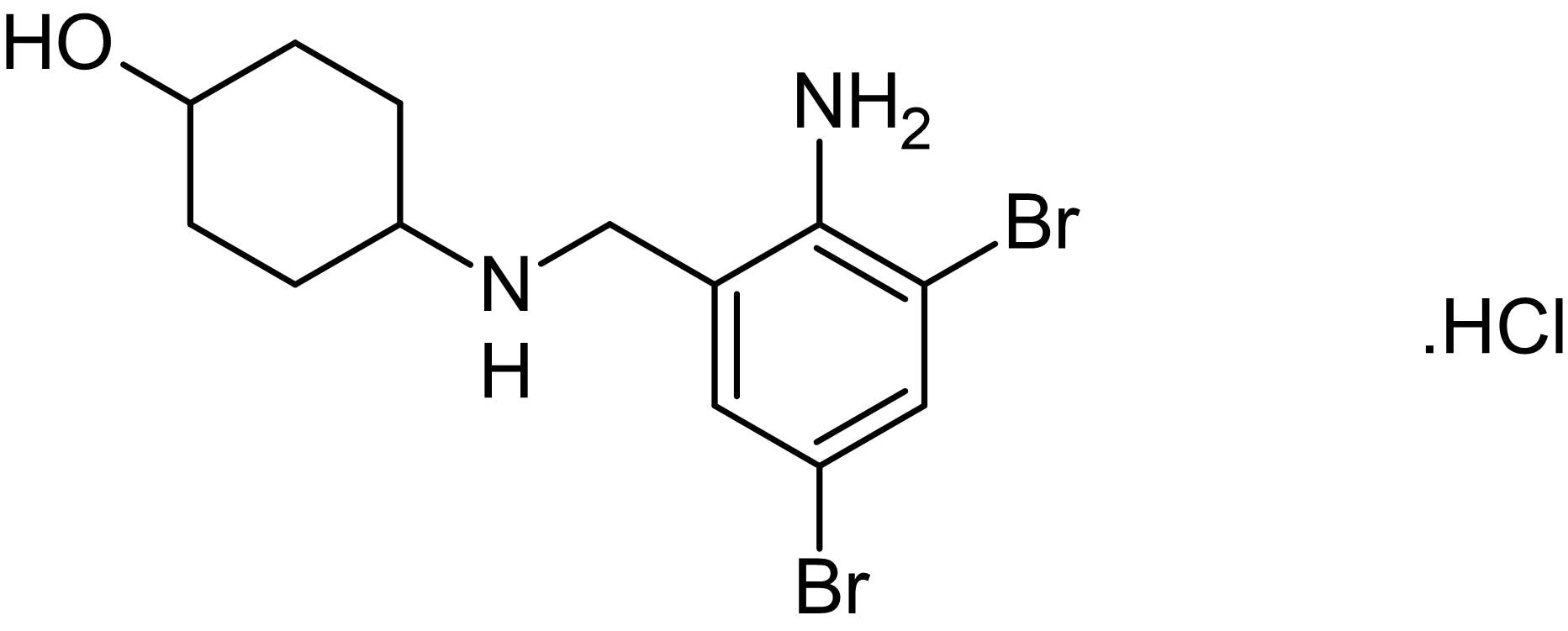 Chemical Structure - Ambroxol hydrochloride, Na<sup>+&nbsp;</sup>channel blocker (ab141778)