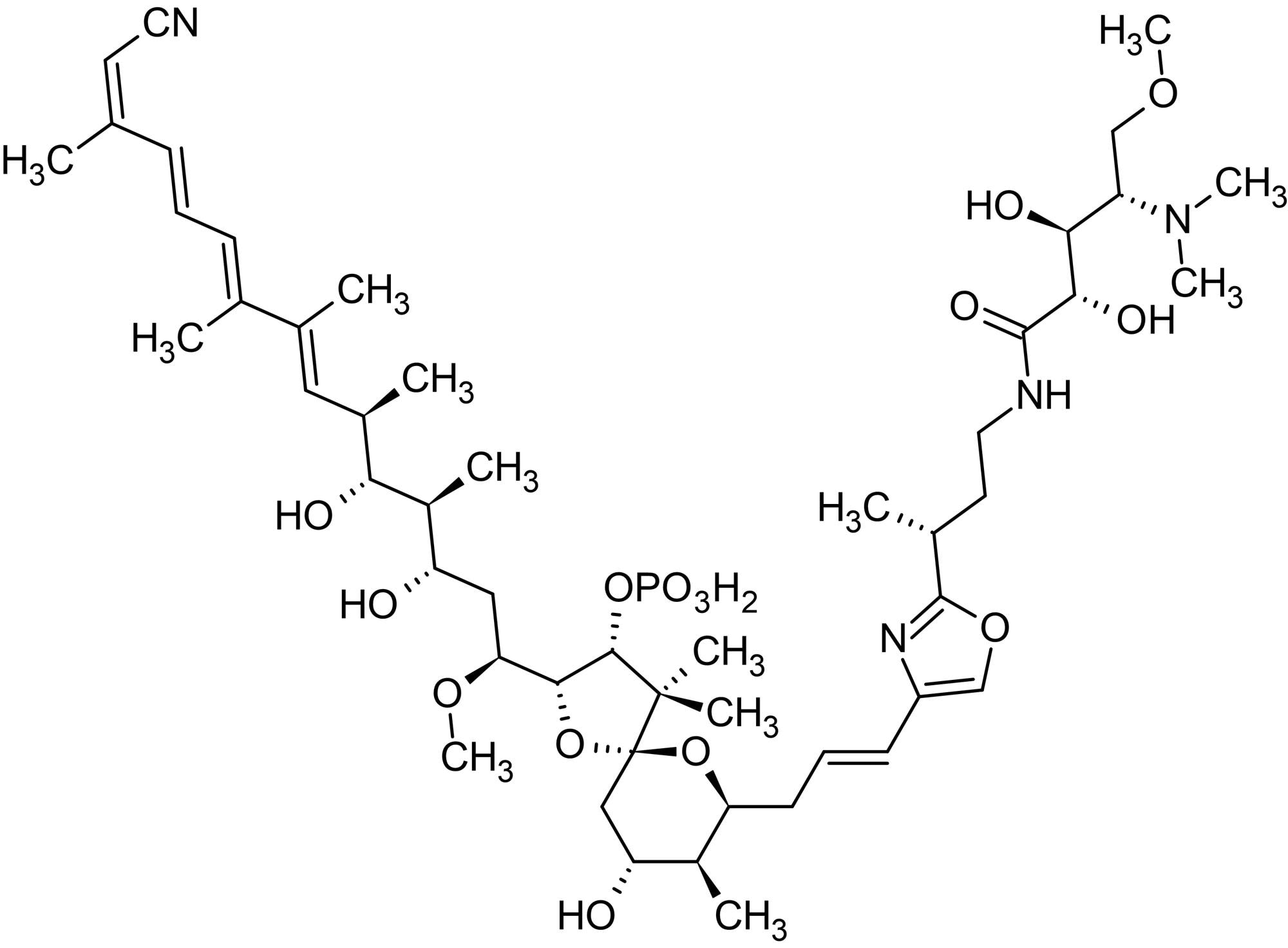 Chemical Structure - Calyculin A, protein phosphatase inhibitor (ab141784)