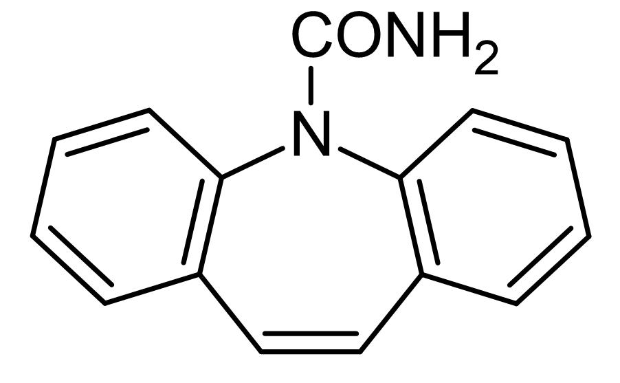 Chemical Structure - Carbamazepine, Neuronal voltage-gated Na<sup>+</sup> channel blocker (ab141785)