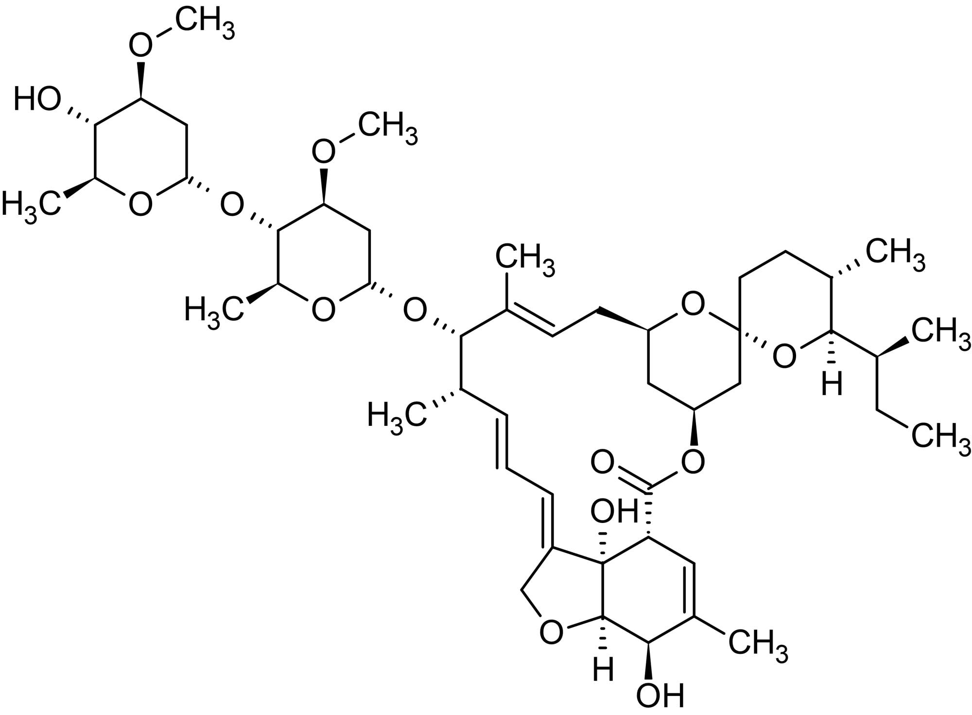 Chemical Structure - Ivermectin, Positive allosteric modulator of alpha7 nicotinic acetylcholine receptors (ab141813)